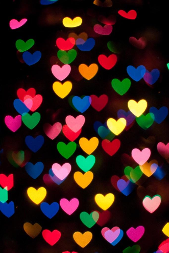 bokeh hearts.