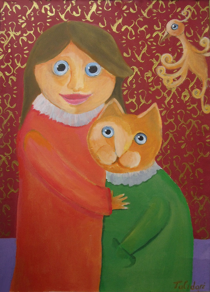 Talidari painting - Princess & cat