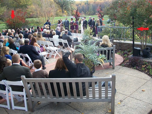 Wedding DJ Chris Laich Music Services Outdoor Ceremony Set  Up at Meadowlark Gardens