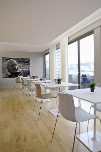 Schöne Aussicht von der Frühstücks Lounge im Hotel Otto in Charlottenburg