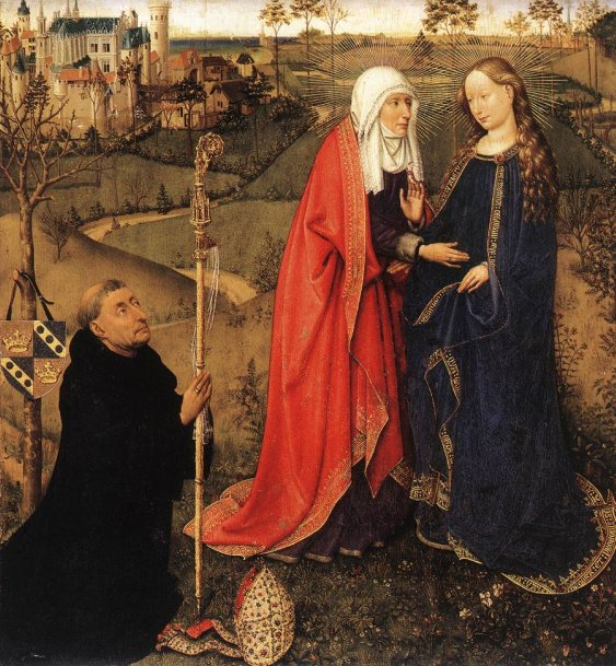 Visitation, from Altarpiece of the Virgin