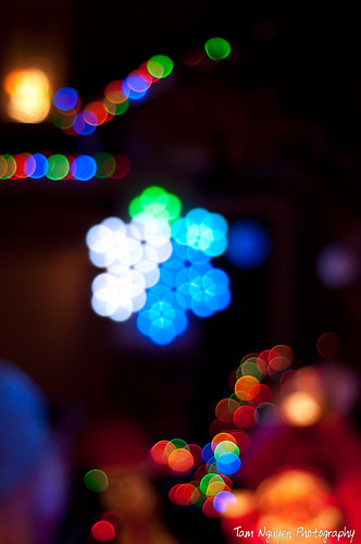 Xmas bokeh light