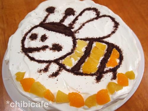 8歳の誕生日ケーキ「みつばち」
