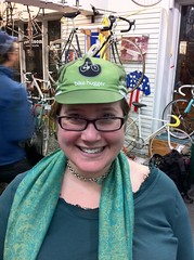2nd Annual Holiday Party: She Loves the Hat (Hugger Industries) Tags: holidayparty bikehugger texturadesign elliottbaybicycles davidsonhandbuiltframes