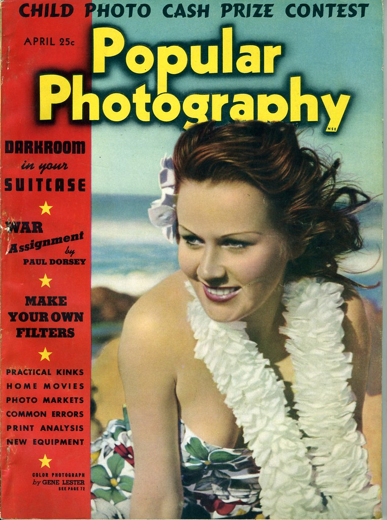 Popular Photography magazine cover April 1939