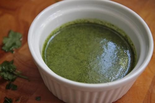 = cilantro oil!