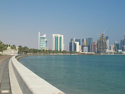 Doha Bay Qatar on the Corniche