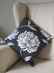 cushion with gold stitching
