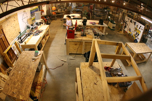 Woodworking craft area