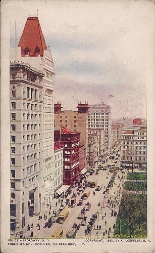 (Undated) Broadway, NY Postcard (Front)