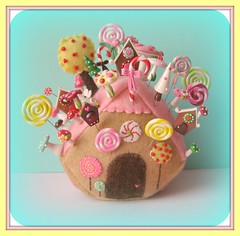 gingerbread house pincushion pin toppers original design (Pinks & Needles (used to be Gigi & Big Red)) Tags: flowers holiday tree wool woodland mushrooms mouse miniature insane gnome colorful needlework blossom chocolate treats gingerbread kitsch felt retro sugar polymerclay polkadots gift kawaii faux sweets chalet pincushion etsy gingerbreadhouse kitschy embriodery needles candycane makebelieve swirly dmc whimsical baked overthetop floss pretend hanselandgretel sugarhigh candystripes frenchknots personalcollection redandpink bakeing originalpattern donotcopy weneedmorecowbell alittlecrazy stitche candyforest gigiminor pinksandneedles pintoppers aquaandpink pintopper pinksneedles gingerbreadpincushion homeoftheoriginalpintopper donotcopythisdesign pleasedonotcopymydesigns pleasebeniceandnotcopymydesigns imagedesignbypinksneedles