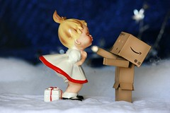 Danbo's romantic winter holiday!! (The Dolly Mama) Tags: christmas winter girl vintage ceramic wonderland danbo revoltech danboard vintagechristmasgirl