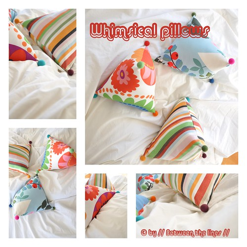 Whimsical pillows :: a tutorial / // Between the Lines //