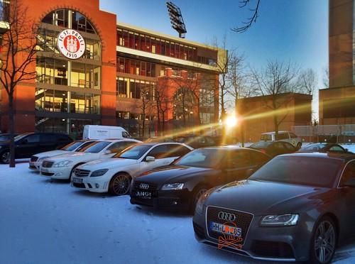 Bundesliga-Verein mit Profi-Fuhrpark
