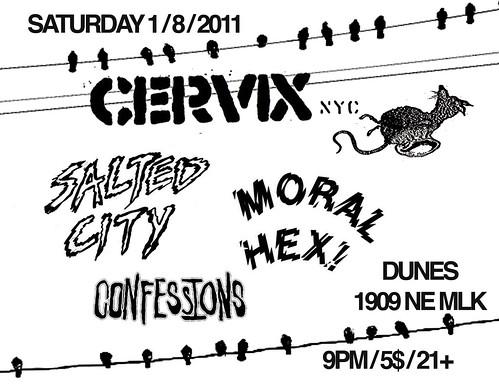 1-8-11 CERVIX/SALTEDCITY/MORALHEX/CONFESSIONS