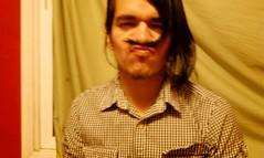 M00stache MANny (lolaxmeister) Tags: window mustache plaid hairmustache mannyponce