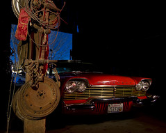 Maglight Fury (Lost America) Tags: lightpainting night plymouth christine 1957 junkyard fury nocturnes thebigm