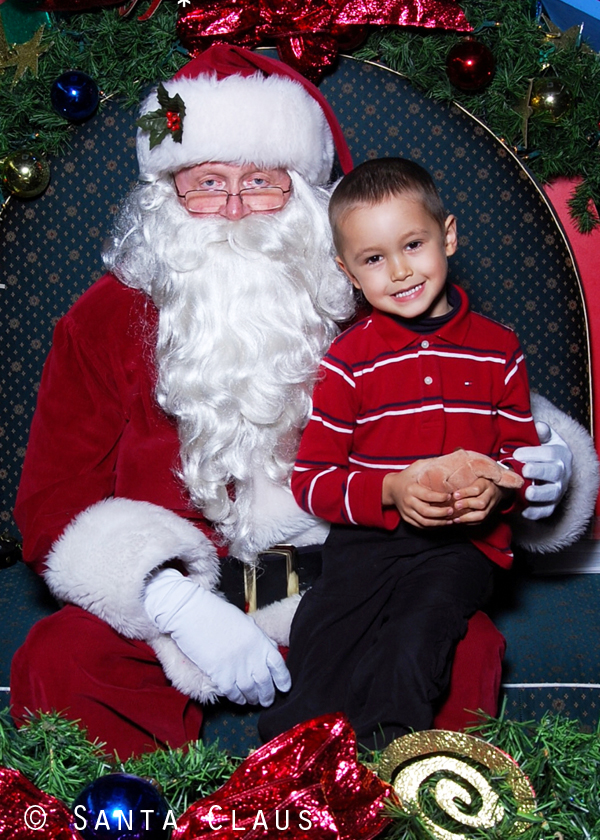 Cole and Santa 2010 blog