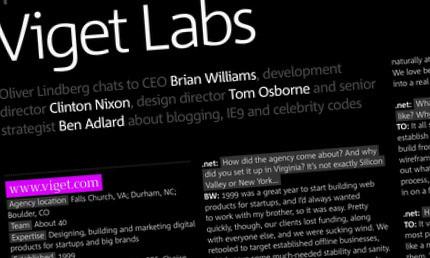 .net magazine viget profile