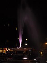 Trafalgar Square Fountain (bekra) Tags: christmas xmas uk winter england london water square lights arc trafalgar