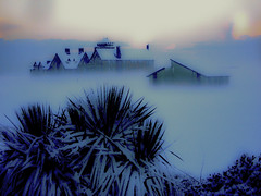 Foggy Snowscape (Tim Bow Photography) Tags: leica uk winter sky cloud sun white mist snow storm beautiful weather clouds landscape photography flickr december chaos britain panasonic retreat fields british welsh clearing porthcawl fogg svenska restbay resthome psdtuts timboss81 timbow timbowphotography