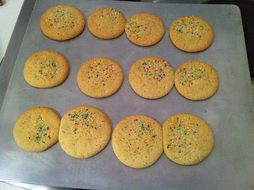 Sugar Cookies, with sprinkles