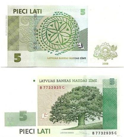 5 Lati Lotyšsko 2009