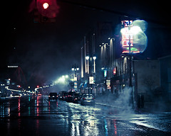 Let it Rain (sadandbeautiful (Sarah)) Tags: street cars rain night lights detroit woodward woodwardavenue besttemptationssongever