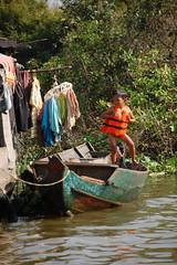nothin on but my life jacket! (farrari524) Tags: people cambodia strangers tonlesap floatingvillage