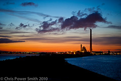 Great South Bull Wall Dublin Winter Sunset (chrisps) Tags: city sunset sea dublin house silhouette wall night port river landscape lights bay nikon south great 85mm bull liffey esb nikkor pidgeon f14g d3s