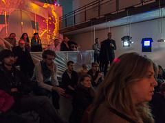 Klubb Kristallen - The audience is listening (Nadsat#1) Tags: lund audience compactcamera lundskonsthall powershot95 klubbkristallen