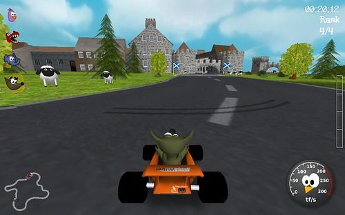 juego para Linux Super Tux Kart