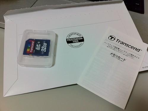 Transcend SDHC フラストレーションフリー