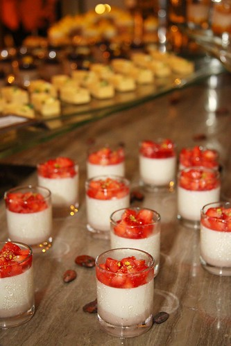 Strawberry-White Chocolate Ganache Lychee Pannacotta