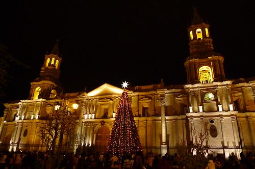 Christmas - Plaza de Armas - Arequipa, Peru