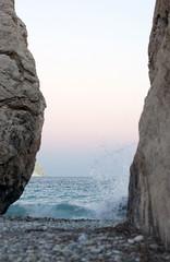 Petra tou Romiou (coolground) Tags: sunset strand mediterranean sundown cyprus shore mythology 2010 seastack solnedgng pafos aphroditesrock klippa medelhavet petratouromiou cypern birthplaceofaphrodite afroditesfdelseplats