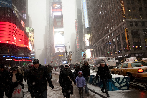 Times Square - New York Snowstorm 2010