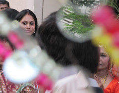 Glass Reflects Indian Wedding Scene (Part 1)