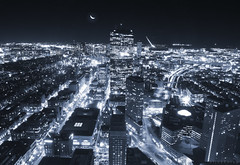 Knight of The Night (bijoyKetan) Tags: light boston night airport cityscape nightscape knight lighttrails logan streaks canon1585mm
