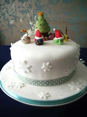 - Mameshiba Christmas Cake (crayonmonkey) Tags: christmas xmas cake decoration sugar cm   christmascake sugarcraft sugarpaste mameshiba
