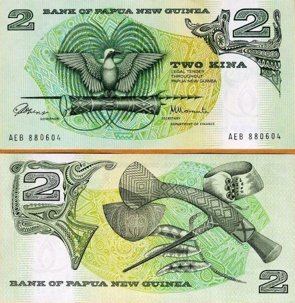 2 Kina Papua Nová Guinea 1992