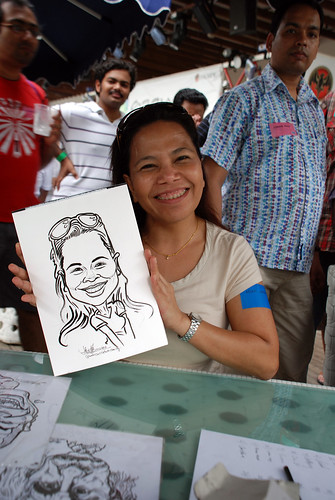 Caricature live sketching for VISA Beach Party 2010 -13