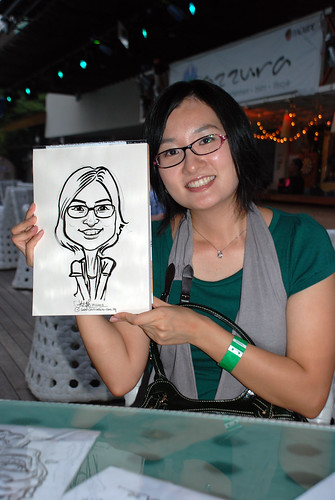 Caricature live sketching for VISA Beach Party 2010 -23
