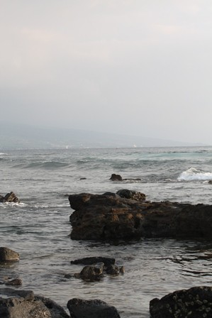 serene beach walk
