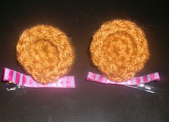 Bear Ear Hair Clips (lavstarlight) Tags: bear brown cute hair weird cosplay crochet ears fantasy geekery hairclips accessory lavenderstarlight knightsocoffee