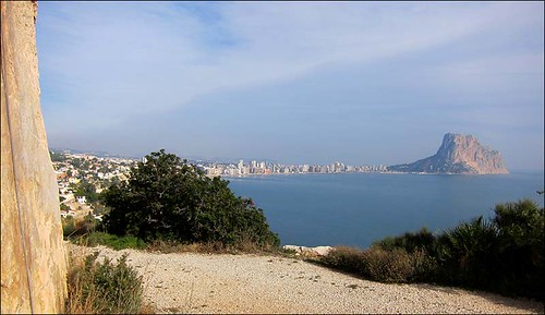 View from Toix Este toward Calpe and Penon d'Ifach