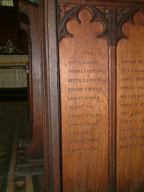 St Augustine - Great War Roll of Honour Panel 3 by Moominpappa06
