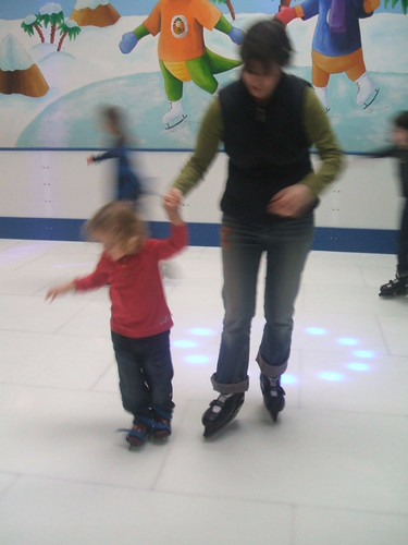 Ice skating with Laurie