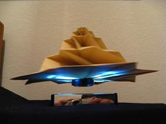 IMG_7756 - Chris Palmer Flower Tower Levitating (tend2it) Tags: geometric toy cool origami geek geometry levitation revolution magnetic chrispalmer levitron flowertower tesellations tesselllation