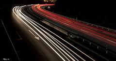 Curva peligrosa (Baikorrix) Tags: lightpainting night canon luces autopista nocturna 18200 bizkaia euskadi a8 curva muskiz autoway